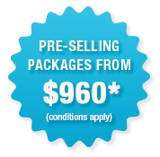 Pre-Selling packages from $795
